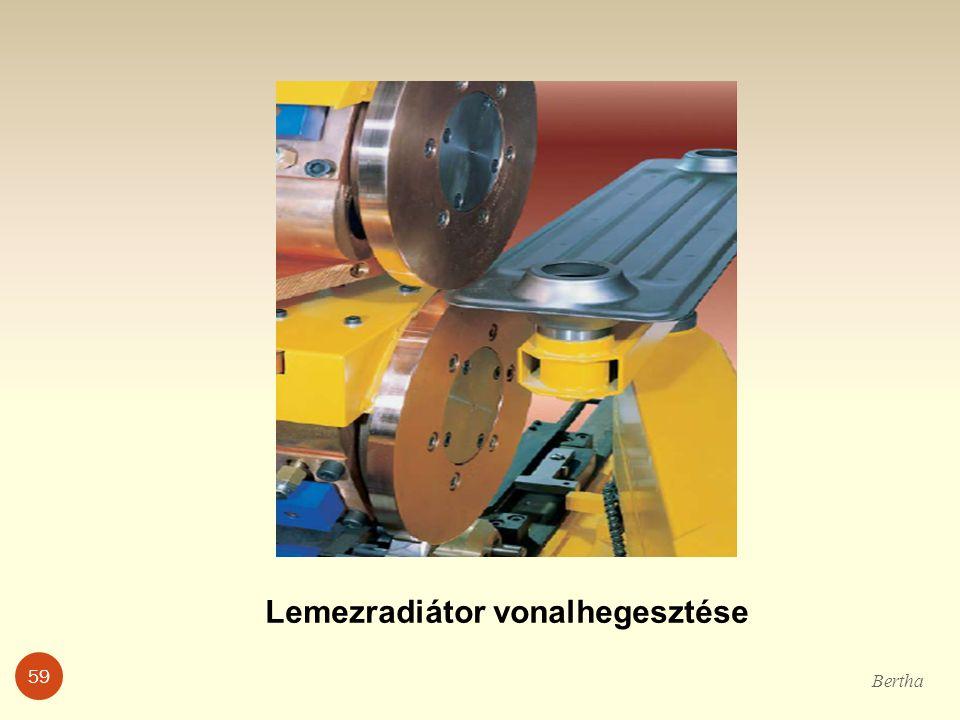 Lemezradiátor vonalhegesztése Bertha 59