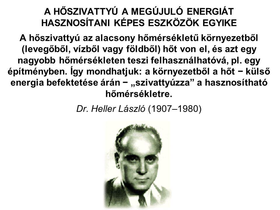ÚJ FEJLŐDÉSI KORSZAK ELŐTT ÁLLNAK AZ ÉPÜLETGÉPÉSZETBEN A MŰSZAKI FEJLŐDÉS MAI SZINTJÉT KÉPVISELŐ, ÚJABB GENERÁCIÓJÚ HŐSZIVATTYÚS RENDSZEREK, AMELYEKNEK HAZAI ELTERJEDÉSÉT INDOKOLJA Az energiahatékonyság és a környezetvédelem növekvő szerepe, az energiaárak állandósult növekedése, a hőerőművi energiatermelő berendezések átlagos hatásfokának emelkedése, a decentralizált energiatermelés és a kapcsolt energiatermelés térhódítása, η HÁLÓZAT = 1, és az η ÉVES jelentős emelkedése, a motorgyártás (villamos és belső égésű motor) és a hűtéstechnika, ezen belül különösen a kompresszorok (az oda-vissza mozgó, alternáló dugattyú helyett a forgódugattyús kompresszor családba tartozó, orbitális mozgást végző ún.