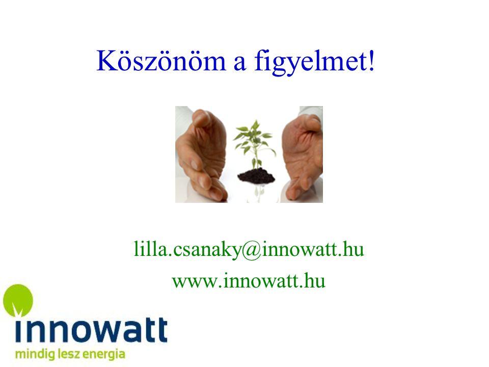 Köszönöm a figyelmet! lilla.csanaky@innowatt.hu www.innowatt.hu