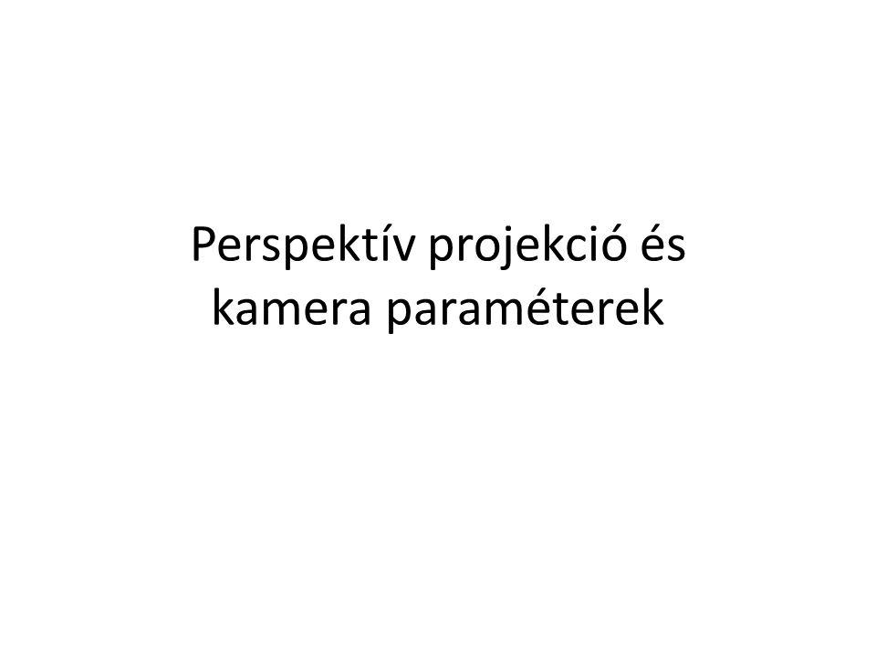 Perspektív projekció és kamera paraméterek