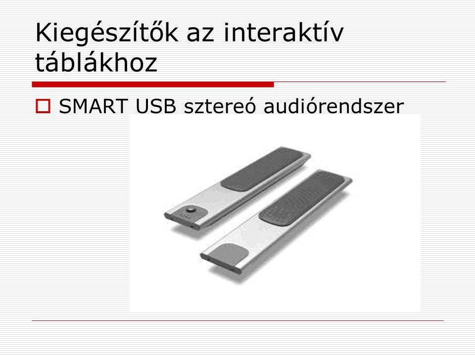 Kiegészítők az interaktív táblákhoz  SMART USB sztereó audiórendszer