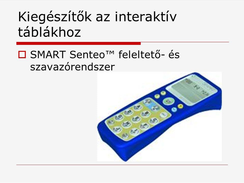 Kiegészítők az interaktív táblákhoz  SMART Senteo™ feleltető- és szavazórendszer