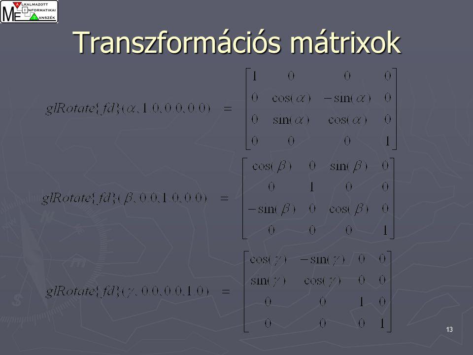 13 Transzformációs mátrixok