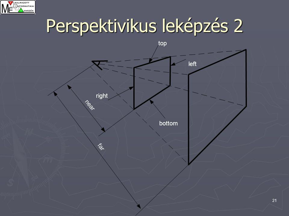 21 Perspektivikus leképzés 2 near far top left bottom right