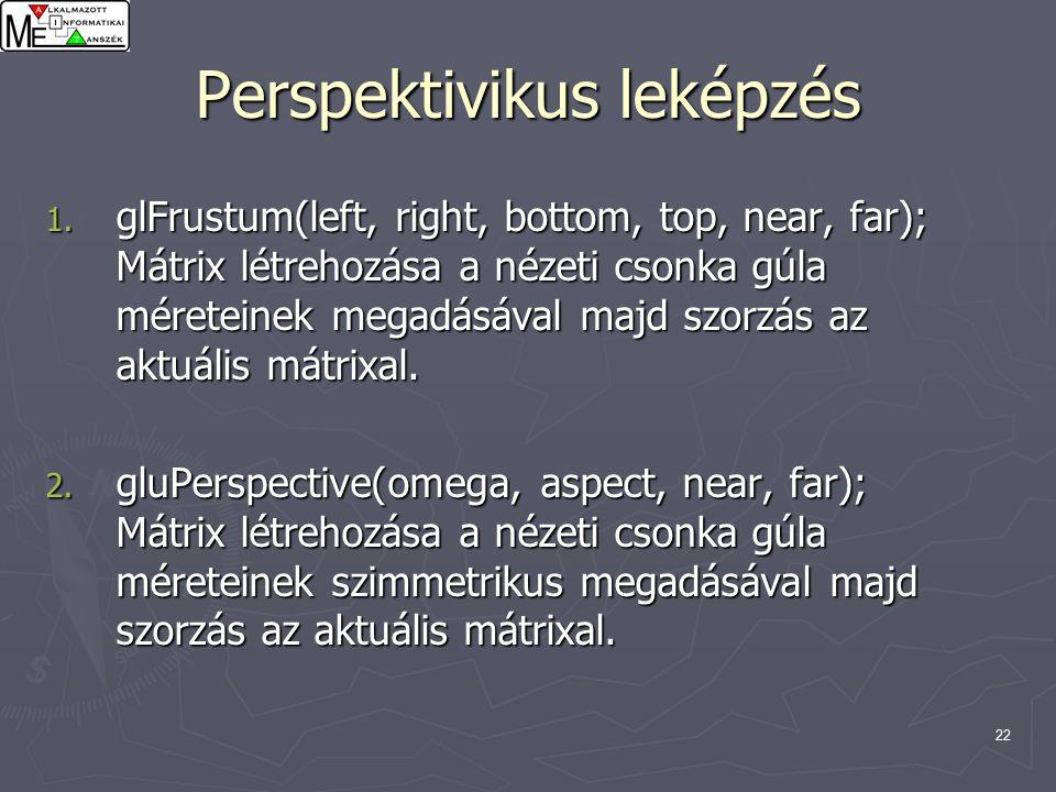 22 Perspektivikus leképzés 1.
