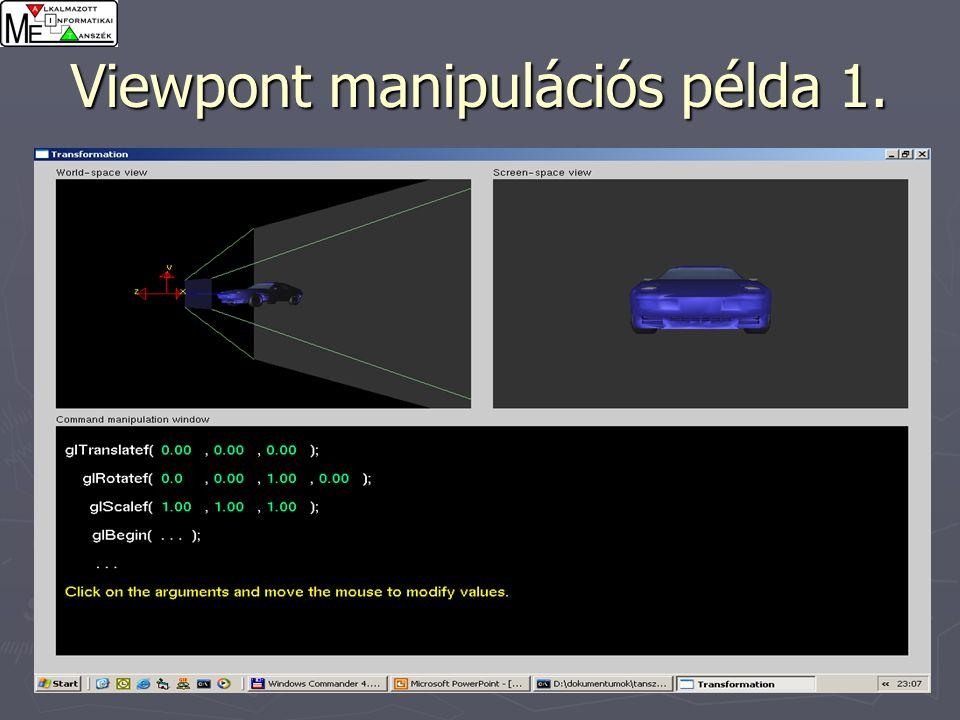 28 Viewpont manipulációs példa 1.