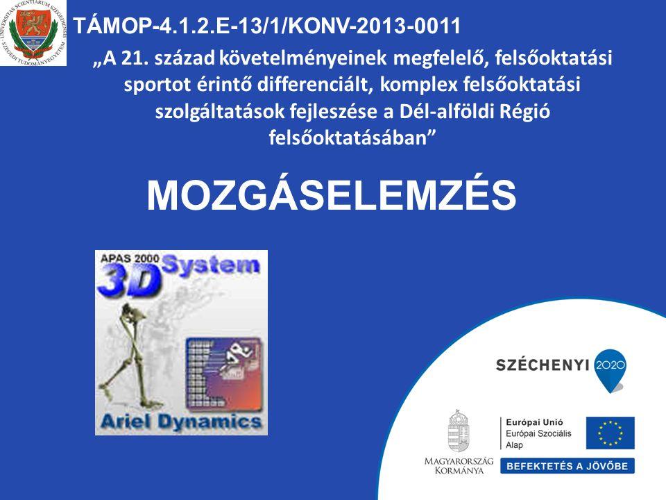 TÁMOP-4.1.2.E-13/1/KONV-2013-0011 Mozgások térben időben a mechanika törvényei szerint mennek végbe.