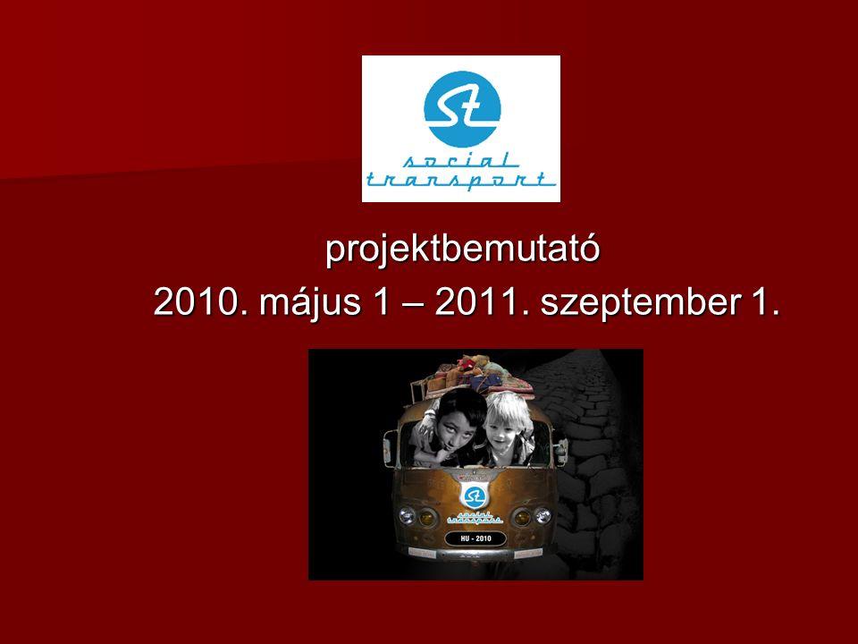 projektbemutató 2010. május 1 – 2011. szeptember 1. 2010. május 1 – 2011. szeptember 1.