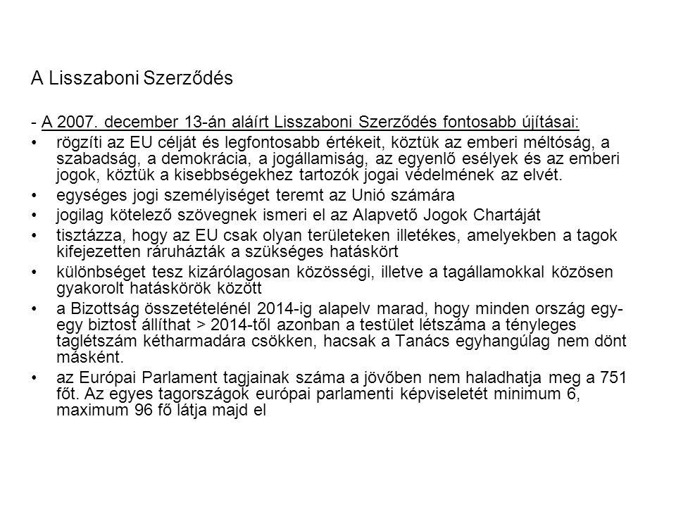 A Lisszaboni Szerződés - A 2007.