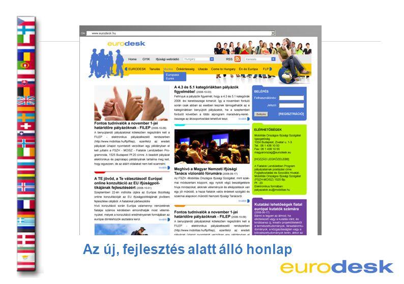 Az új, fejlesztés alatt álló honlap
