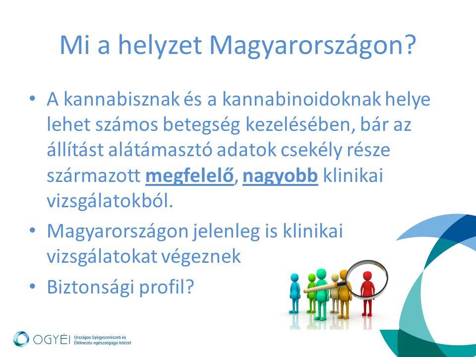 Mi a helyzet Magyarországon? A kannabisznak és a kannabinoidoknak helye lehet számos betegség kezelésében, bár az állítást alátámasztó adatok csekély