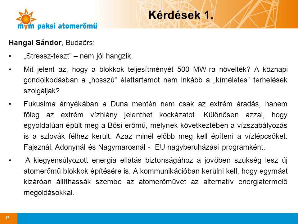 """17 Hangai Sándor, Budaörs: """"Stressz-teszt – nem jól hangzik."""