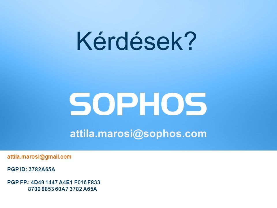 16 © Sophos Ltd. All rights reserved. Kérdések.