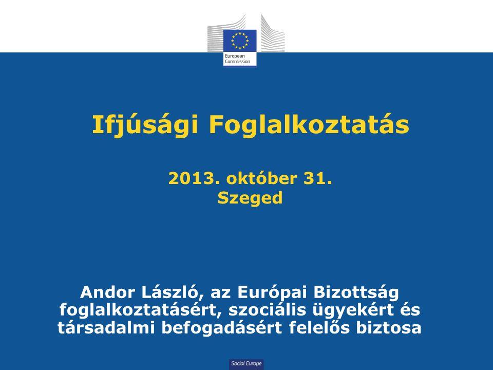 Social Europe Ifjúsági Foglalkoztatás 2013. október 31.