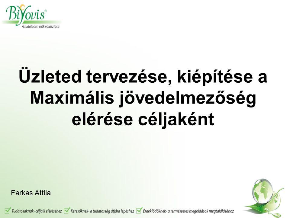 Üzleted tervezése, kiépítése a Maximális jövedelmezőség elérése céljaként Farkas Attila