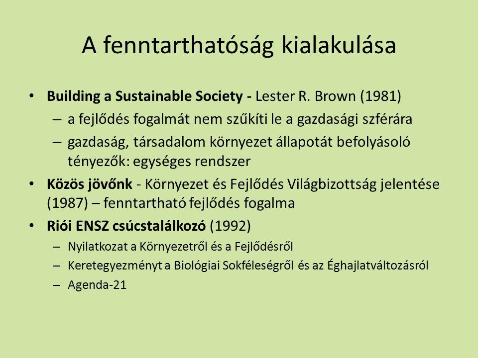 A fenntarthatóság kialakulása Building a Sustainable Society - Lester R.