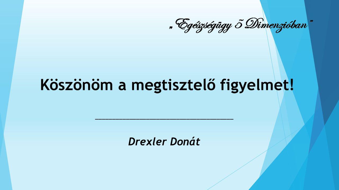 Köszönöm a megtisztelő figyelmet! _________________________________________ Drexler Donát