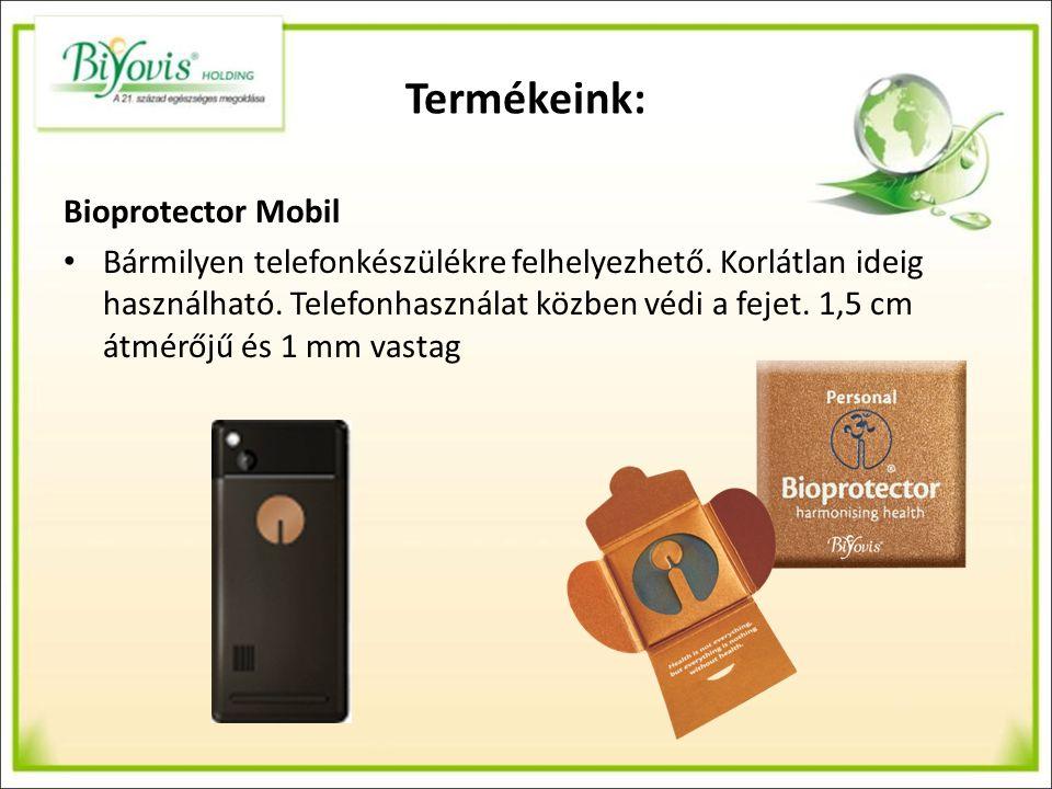 Termékeink: Bioprotector Mobil Bármilyen telefonkészülékre felhelyezhető.