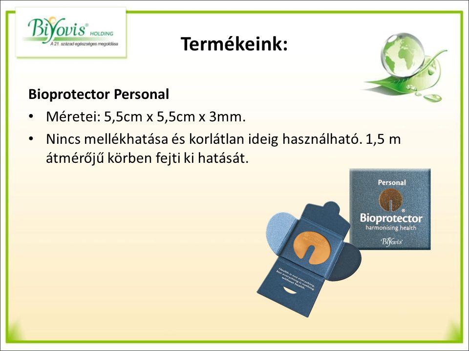 Termékeink: Bioprotector Personal Méretei: 5,5cm x 5,5cm x 3mm.