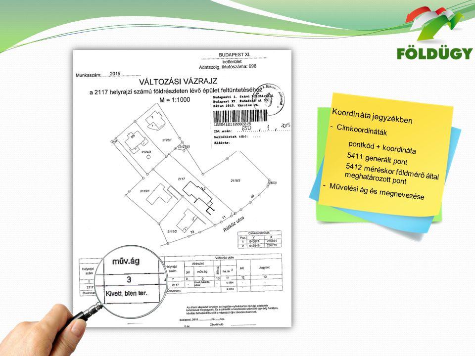 Változási vázrajzok vizsgálatakor észlelt hibák  Ellenőrző mérés, pontmeghatározás, bemérések valósághű dokumentálása  Ellenőrző mérések hiánya  Hatályos rendelet szerinti alaki és tartalmi megjelenítés (25/2013 (IV.