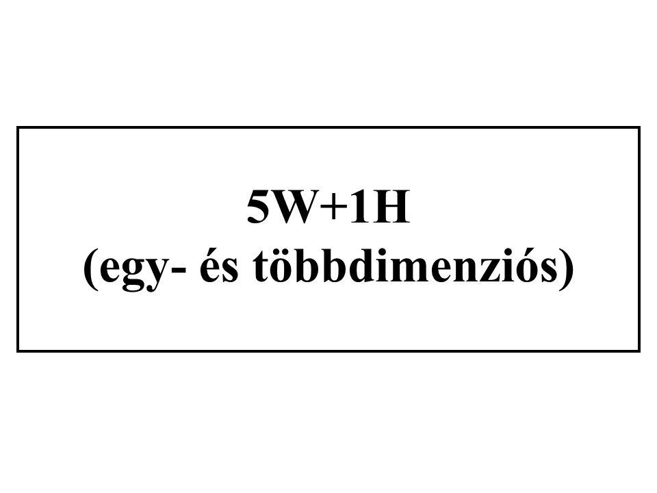 5W+1H (egy- és többdimenziós)