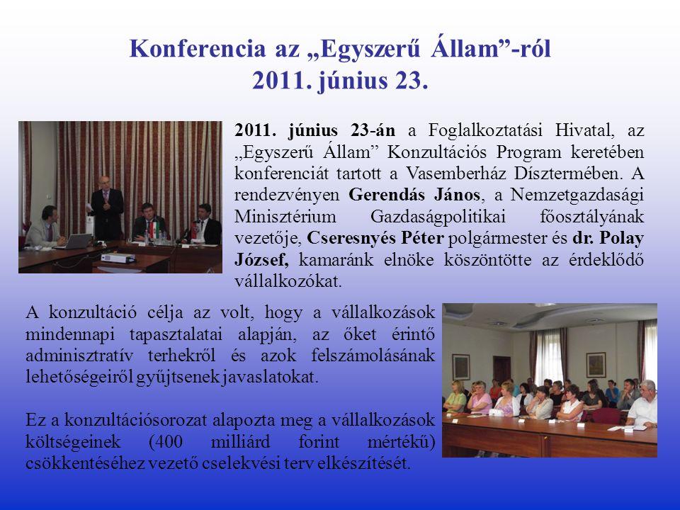 """Konferencia az """"Egyszerű Állam -ról 2011. június 23."""
