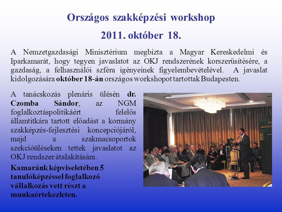 Országos szakképzési workshop 2011. október 18.