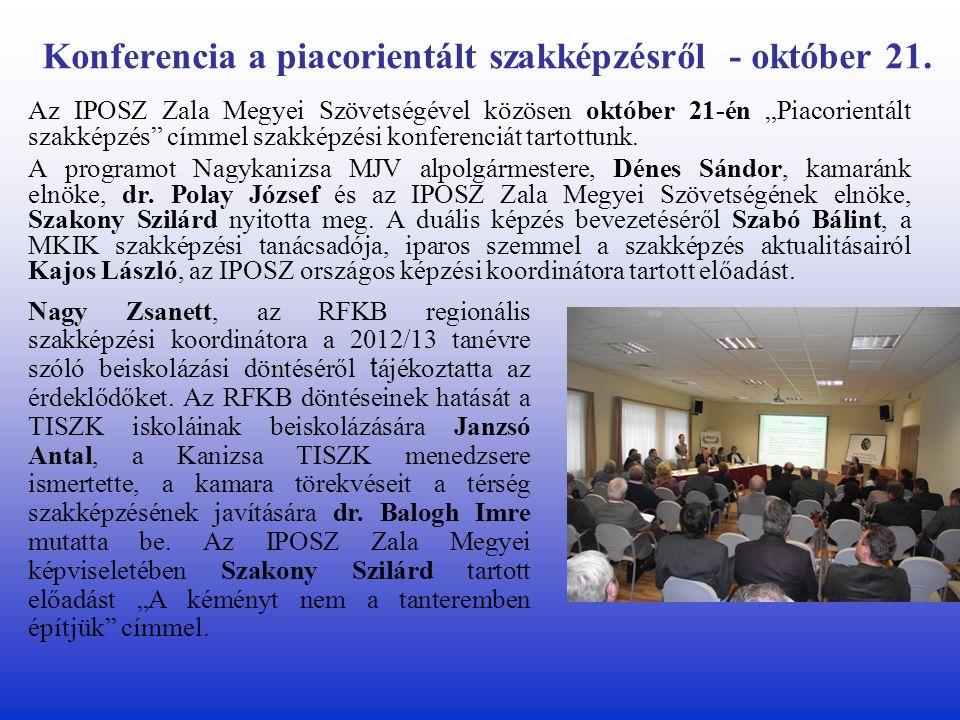 Konferencia a piacorientált szakképzésről - október 21.