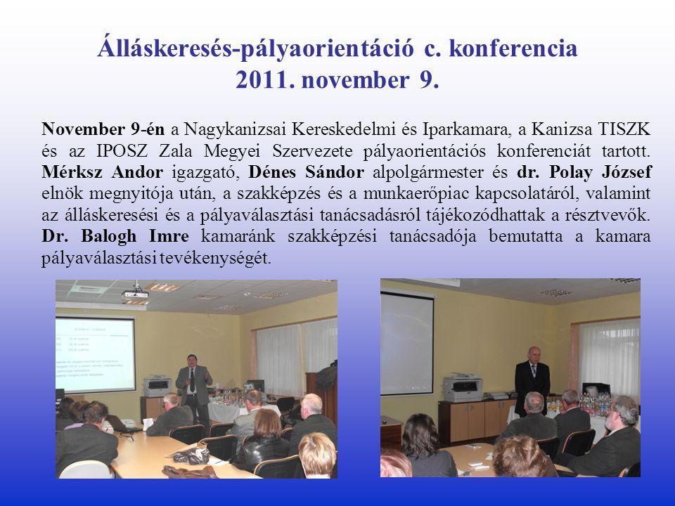 Álláskeresés-pályaorientáció c. konferencia 2011.