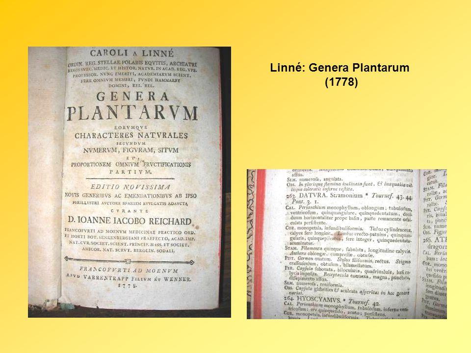 Linné: Genera Plantarum (1778)