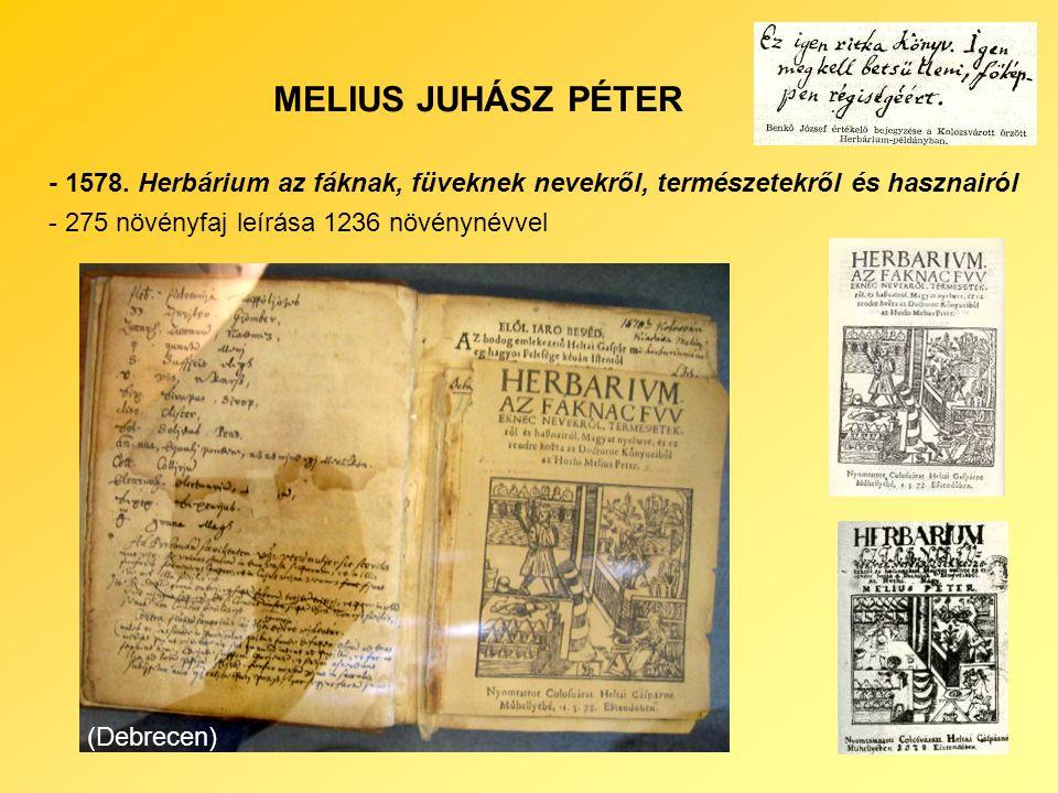 MELIUS JUHÁSZ PÉTER - 1578.