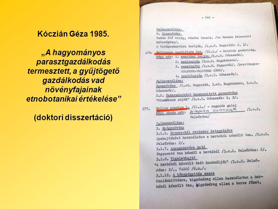 Kóczián Géza 1985.