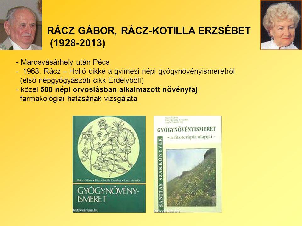 RÁCZ GÁBOR, RÁCZ-KOTILLA ERZSÉBET (1928-2013) - Marosvásárhely után Pécs - 1968.