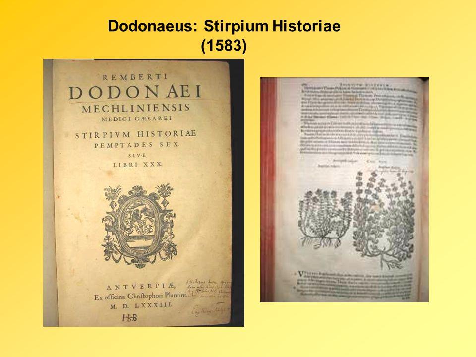Dodonaeus: Stirpium Historiae (1583)