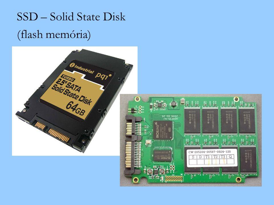 SSD – Solid State Disk (flash memória)