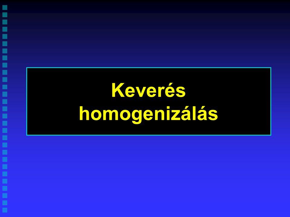 Keverés homogenizálás