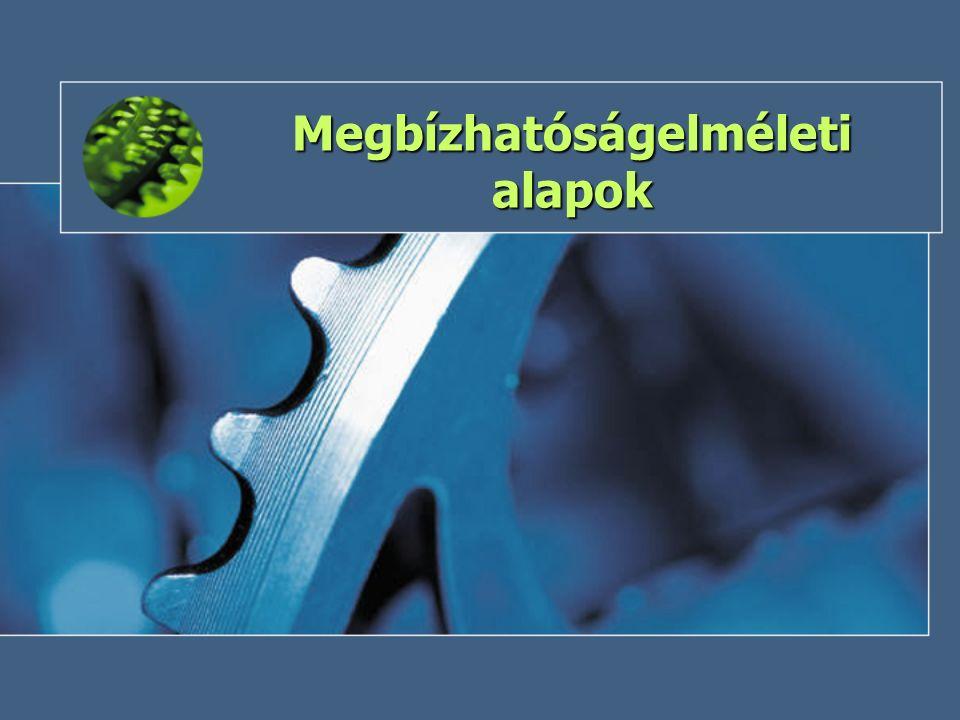 2013 tavaszKockázat és megbízhatóság9 Megbízhatóságelmélet A megbízhatóságelmélet az a komplex tudományág, amely a meghibásodási folyamatok törvényszerűségeivel, a megbízhatóság számszerű jellemzőinek, mutatóinak a meghatározásával, valamint a megbízhatóság növelésének lehetőségeivel foglalkozik.