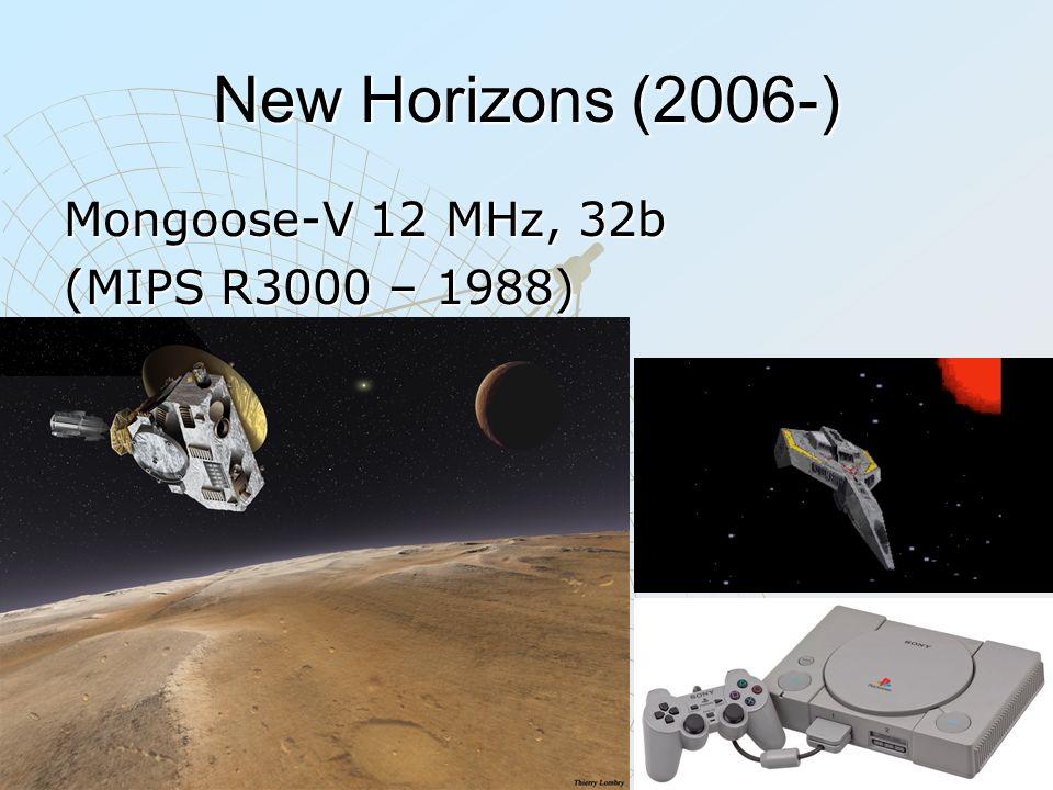 New Horizons (2006-) Mongoose-V 12 MHz, 32b (MIPS R3000 – 1988)