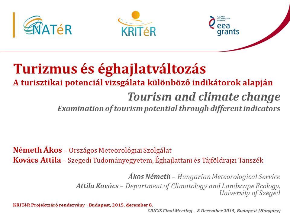 Az ideális hőmérséklet az alábbi programoknál (üdülés a Balatonnál) The ideal temperature for the following programs (recreation near the Lake Balaton)