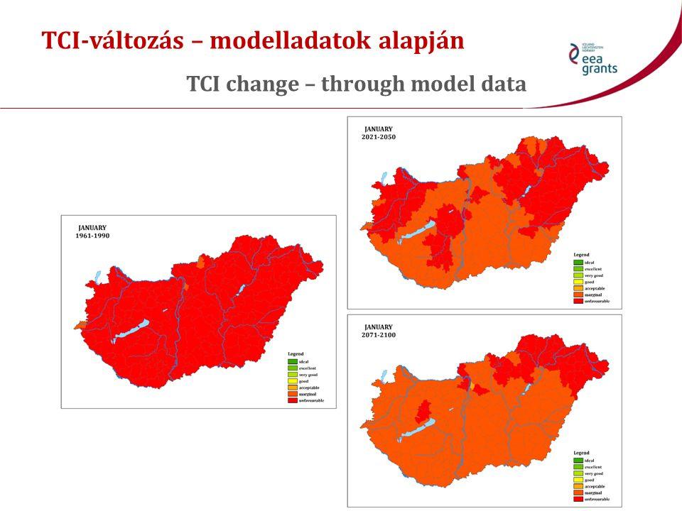 TCI-változás – modelladatok alapján TCI change – through model data