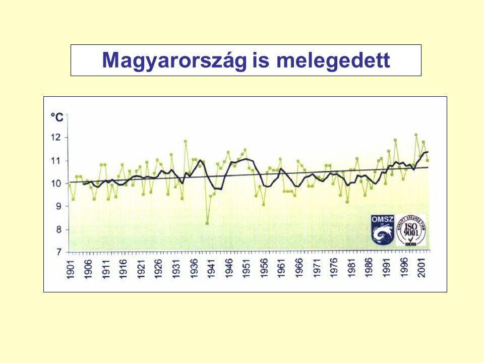 Magyarország is melegedett