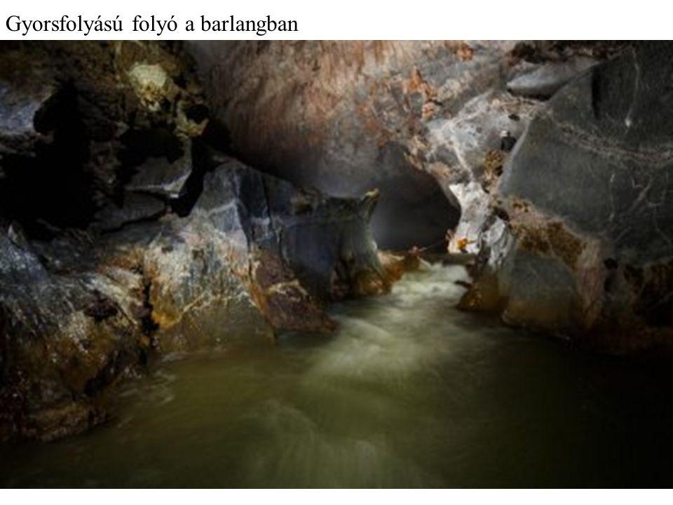 A barlangnak saját, viszonylag gyors folyású folyója van, ami a föld alatt hömpölyög.