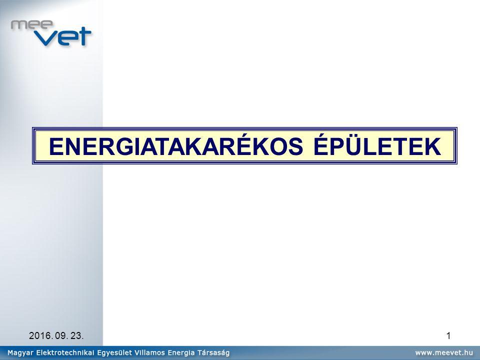2016. 09. 23.1 ENERGIATAKARÉKOS ÉPÜLETEK