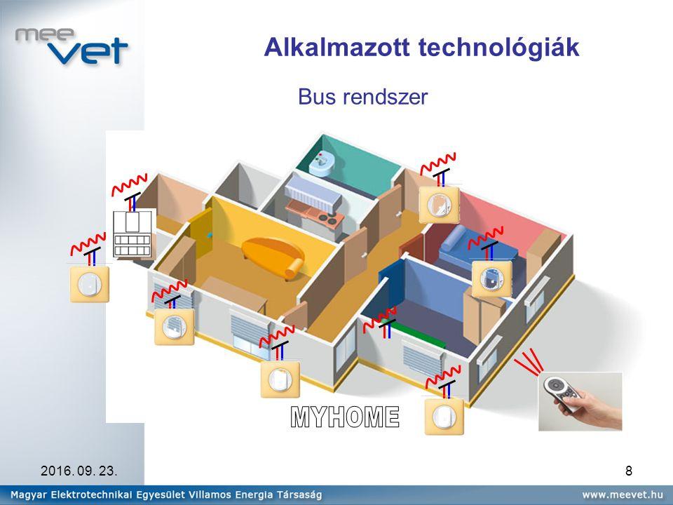 2016. 09. 23.8 Bus rendszer Alkalmazott technológiák