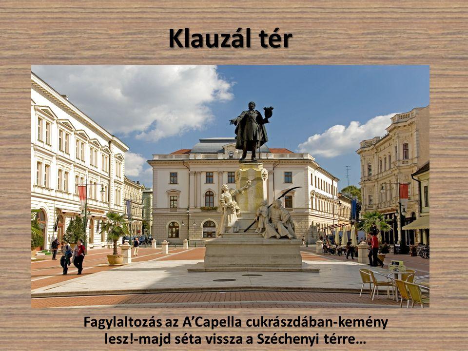 Klauzál tér Fagylaltozás az A'Capella cukrászdában-kemény lesz!-majd séta vissza a Széchenyi térre…