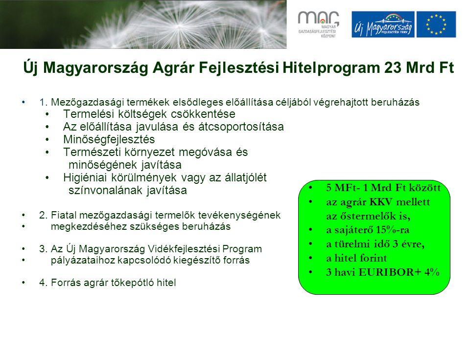 1. Mezőgazdasági termékek elsődleges előállítása céljából végrehajtott beruházás Termelési költségek csökkentése Az előállítása javulása és átcsoporto
