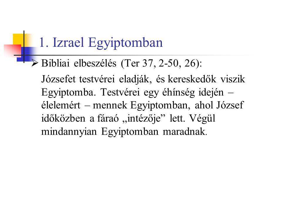 """ A kivonulás az Egyiptomi """"Újbirodalom korára (II."""