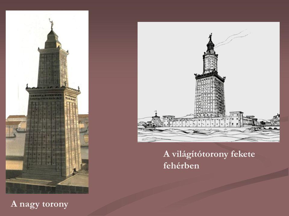 A világítótorony fekete fehérben A nagy torony