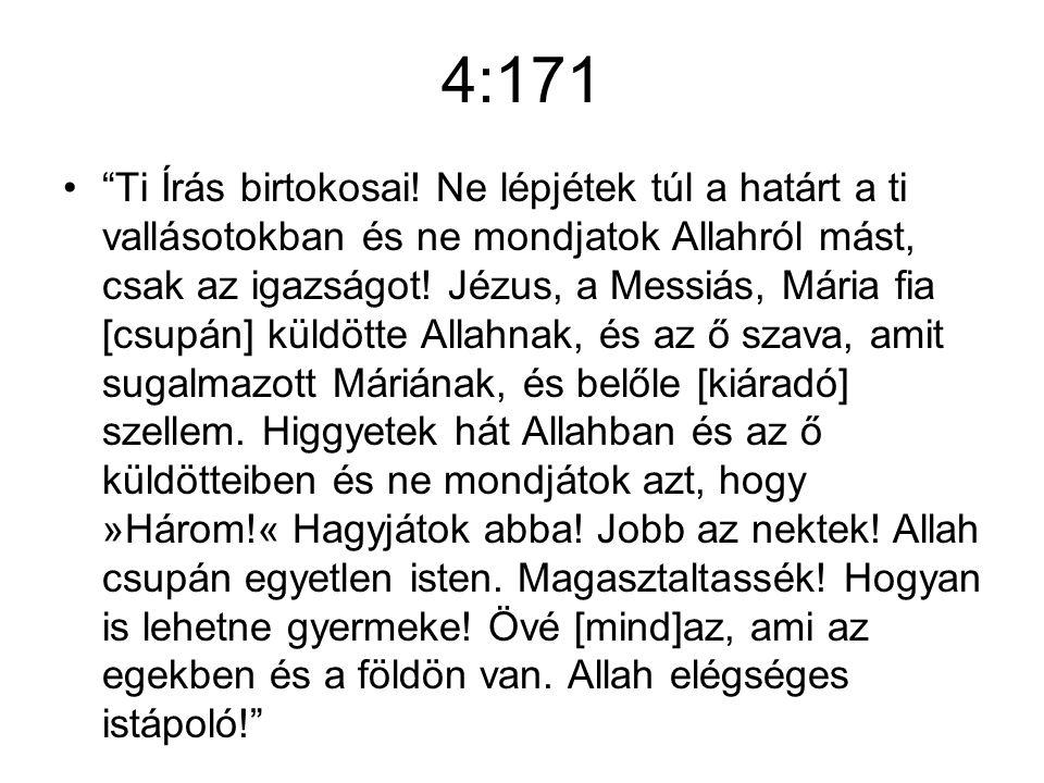 4:171 Ti Írás birtokosai.