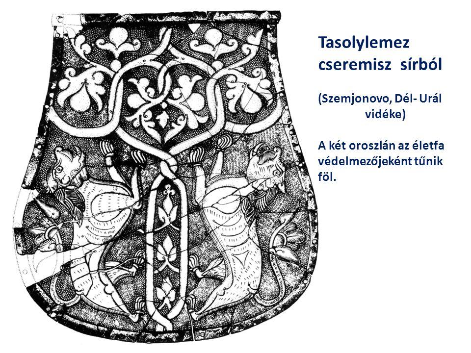 A magyar Szent Korona Pantokratór- zománcelemzének fácskái: A cédrus, amely az örök életet szimbolizálja, s egyben a mennyei helyszínre utal, ahol a világ bírája ül trónusán.